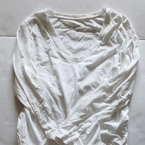 Isabel Maternity White Long Sleeve Shirt XXL